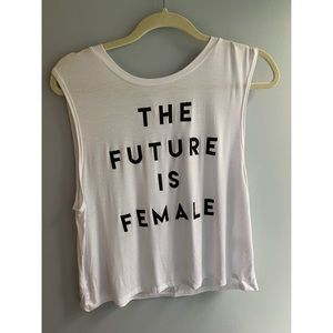 The Future Is Female Sheer Muscle Tank